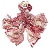 Etole laine étamine rouge traits
