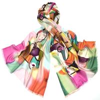 Etole laine imprimée multicolore pica premium