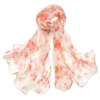 Foulard en mousseline de soie rose flovita