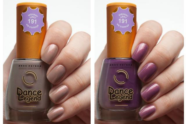 Vernis sensible au UV qui change de couleur à l'ombre ou au soleil de la marque Dance Legend