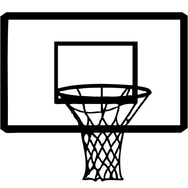 Stickers panier de basket sport autres destock stickers - Diametre panier de basket ...