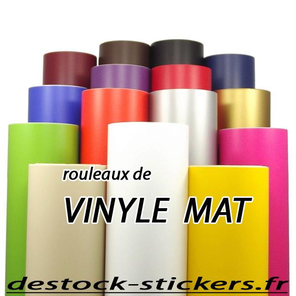 Adhesif vinyle mat rouleau de 10 m tres pour plotter de for Rouleau vinyle adhesif pour meuble