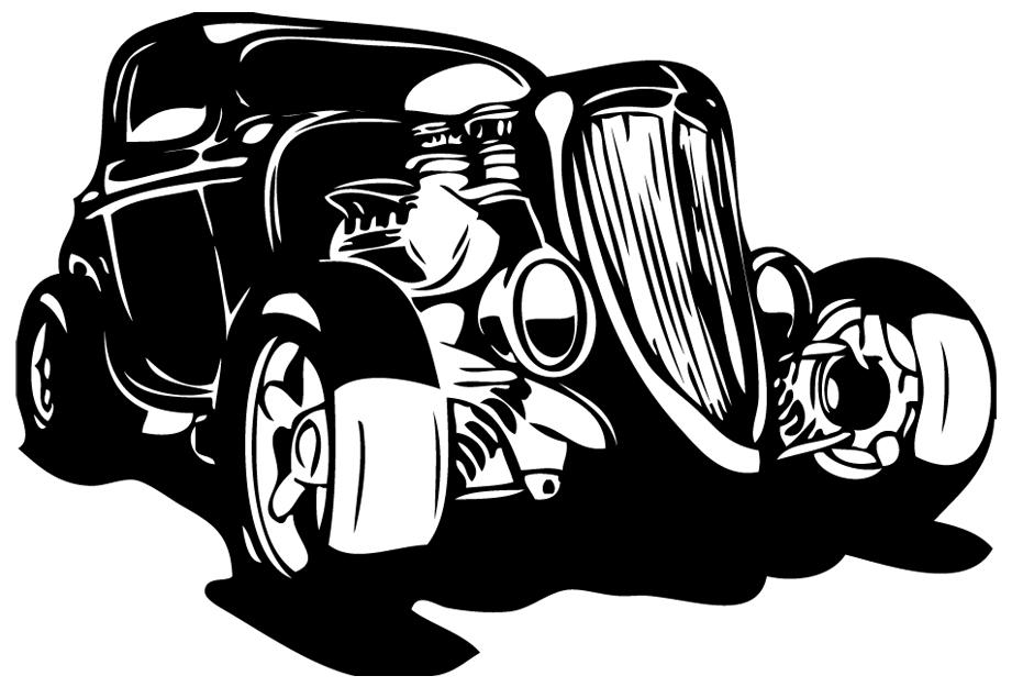 stickers autocollant voiture ancienne ford d co de la. Black Bedroom Furniture Sets. Home Design Ideas