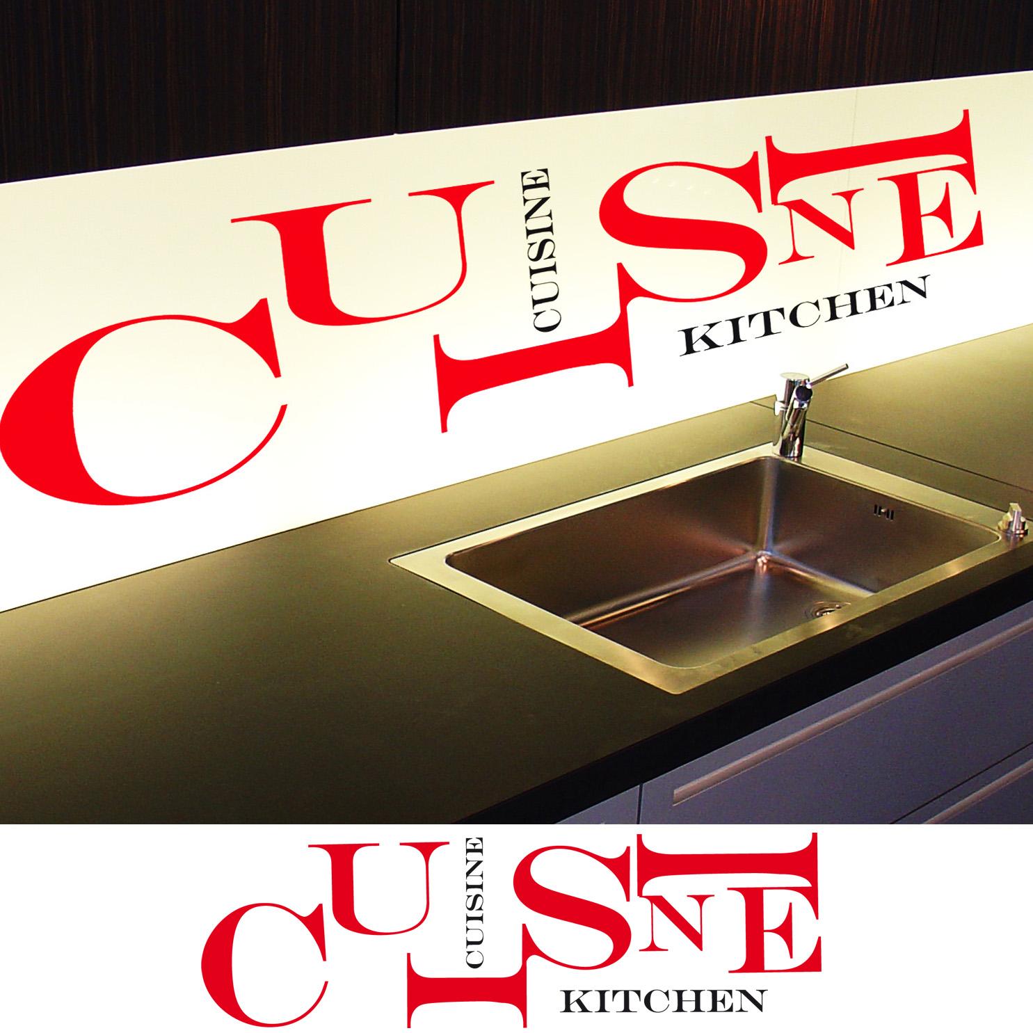 stickers d co cuisine lettres horizontales deco cuisine destock stickers. Black Bedroom Furniture Sets. Home Design Ideas