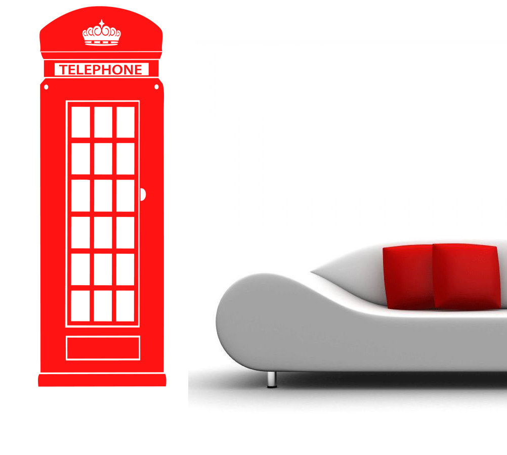 Stickers cabine t l phone anglaise d co de la maison - La maison du stickers ...