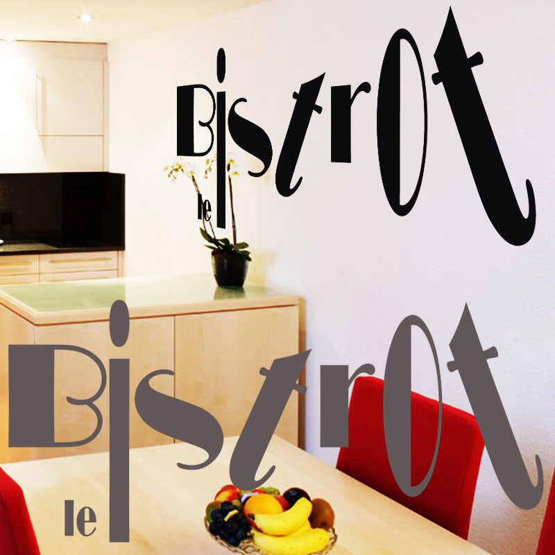 Stickers d co bar le bistrot deco cuisine destock stickers for Deco mot cuisine