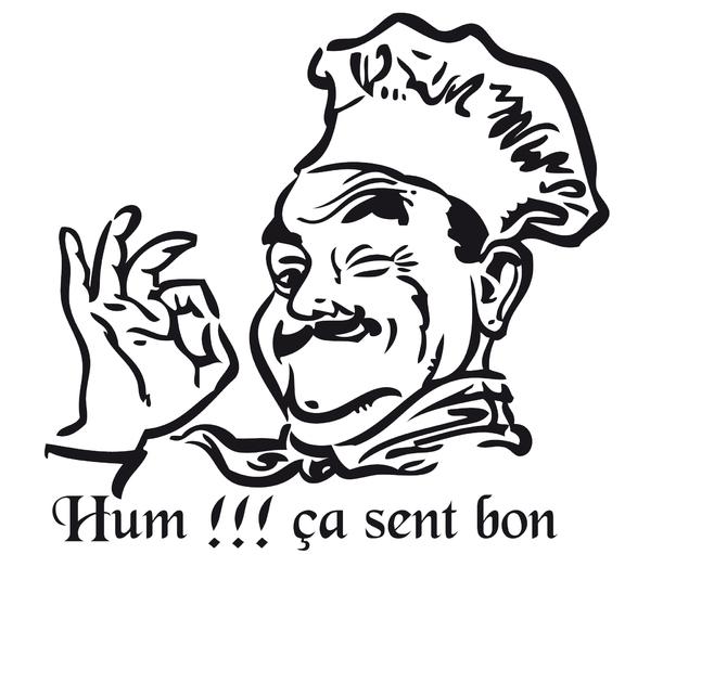 Stickers cuisinier hum a sent bon pi ces de la - Adoucissant maison qui sent bon ...