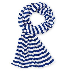 Echarpe rayée Marinière Bleu et blanc