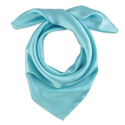 Foulard carré Eazy <br/>Bleu turquoise