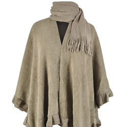 Poncho écharpe WALES <br/>Taupe
