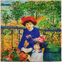 Carré de soie SilkArt <br/>Auguste Renoir <br/>Sur la terrasse