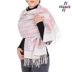 Châle FRISAFLOR <br/>Rose et Blanc