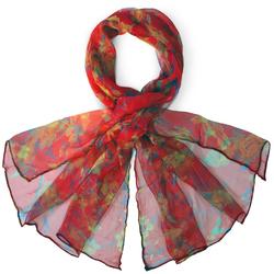 Foulard mousseline de soie <br/>Paquita Rouge
