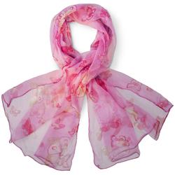 Foulard mousseline de soie <br/>Taurini Rose