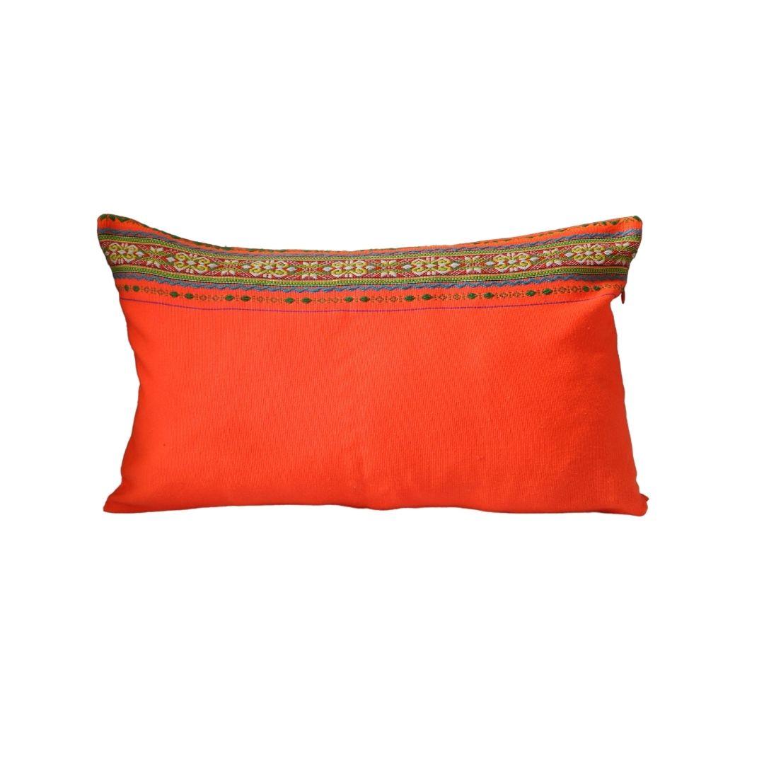 Coussin Bahnar orange flash