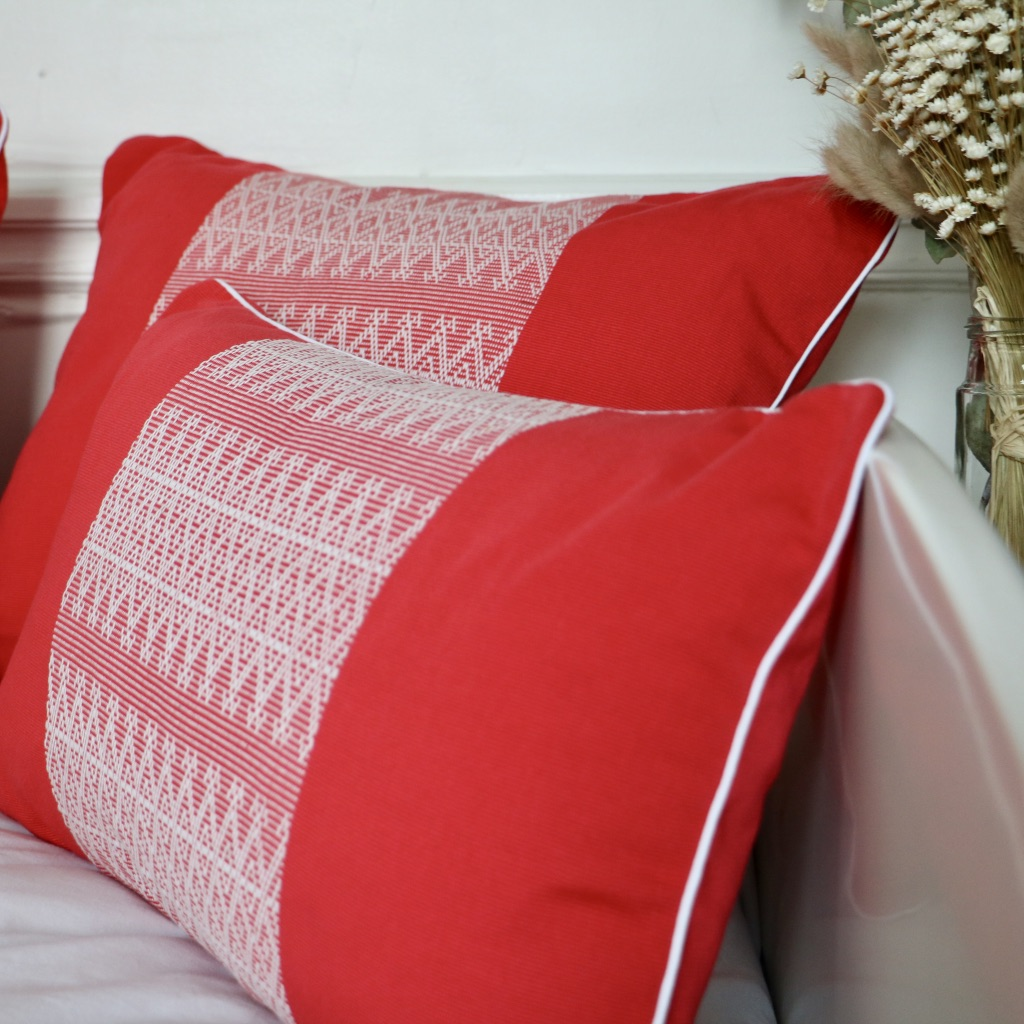 Coussin Seomi rouge