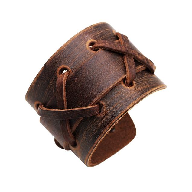 Bracelet homme bandage en cuir COWBOY