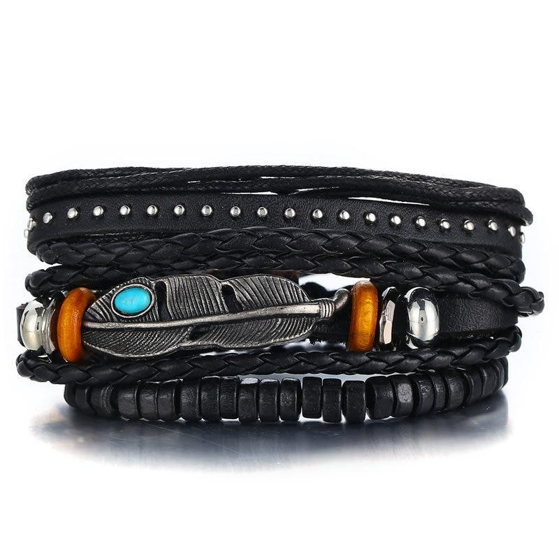 Bracelet homme en cuir BAZAAR