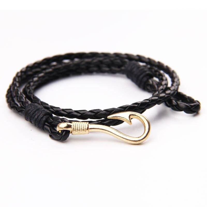 Bracelet homme en cuir PU FISHERMAN