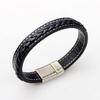NIUYITID-mode-titane-acier-boucle-hommes-Bracelet-bijoux-cor-en-Simple-cuir-tress-Bracelet-classique-Style