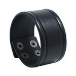 NIUYITID-Vintage-large-Bracelet-en-cuir-v-ritable-Bracelet-pour-hommes-noir-marron-couleur-Punk-Style