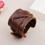 NIUYITID-100-Bracelet-en-cuir-v-ritable-bijoux-pour-hommes-femmes-Vintage-mode-marron-noir-large