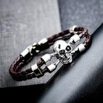 Bracelet-mode-NIUYITID-Bracelet-cr-ne-homme-cuir-synth-tique-polyur-thane-noir-Bracelet-tress-bijoux