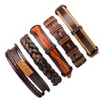 NIUYITID-hommes-Bracelet-en-cuir-bijoux-mode-cr-ne-Bracelet-noir-tress-en-cuir-v-ritable