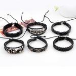1-ensemble-5-6-pi-ces-Punk-Rock-cr-ne-toile-Multi-Bracelet-breloques-pour-femmes