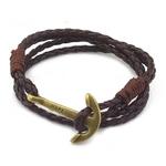 NIUYITID-Bracelet-Faux-Cuir-Ancre-Hommes-40cm