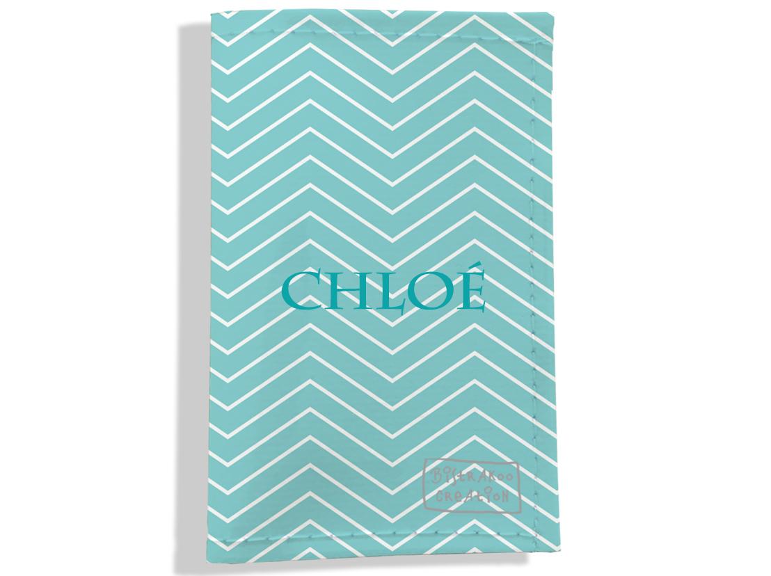 Porte-papiers de voiture personnalisable pour femme motif Chevrons