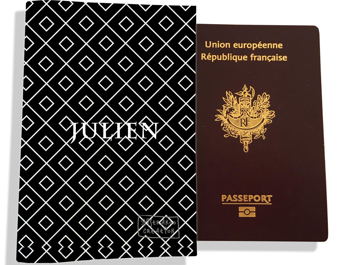 Protège passeport personnalisable pour homme motif Graphique