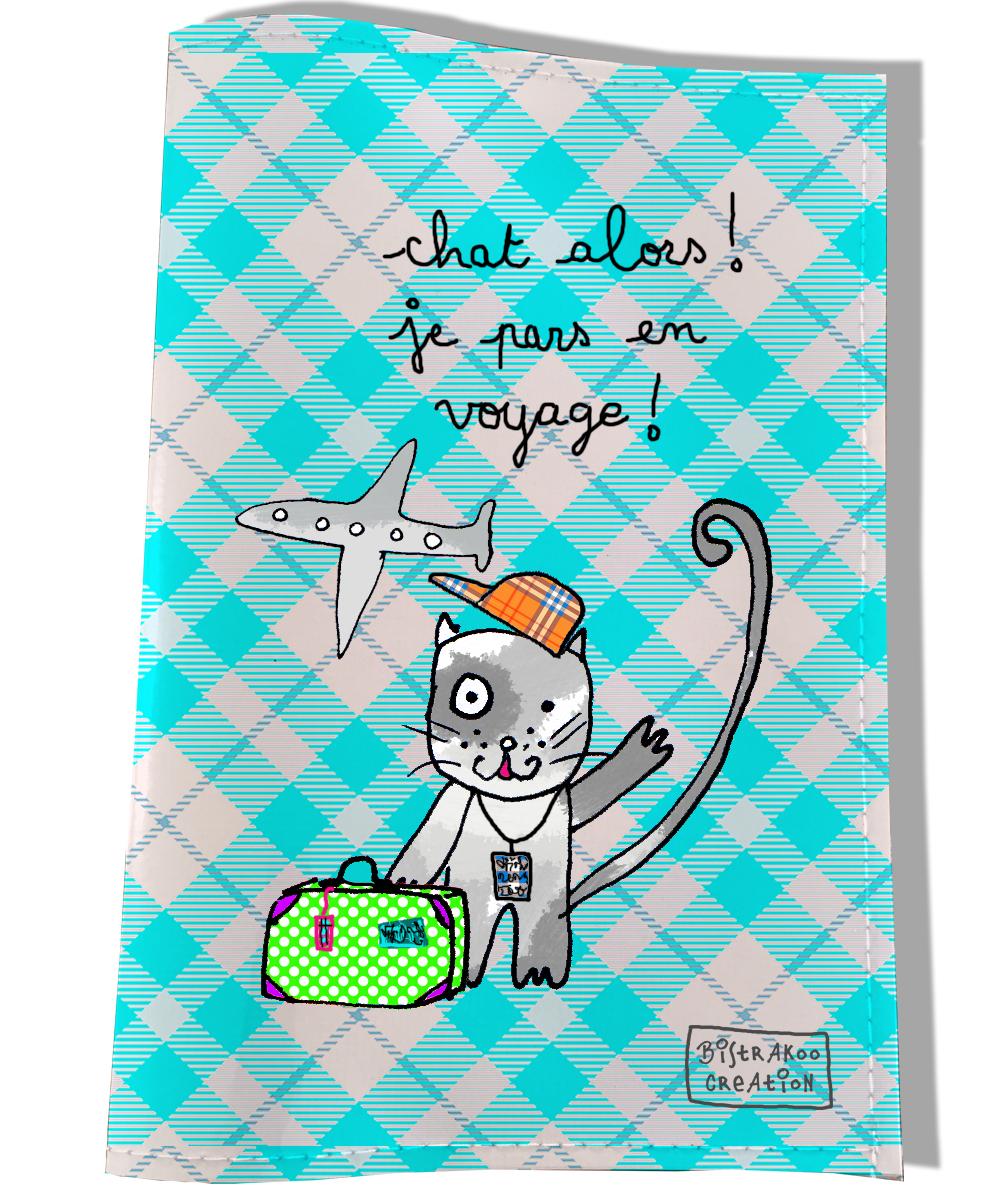 Protège passeport pour chat motif chat motif alors ! ...
