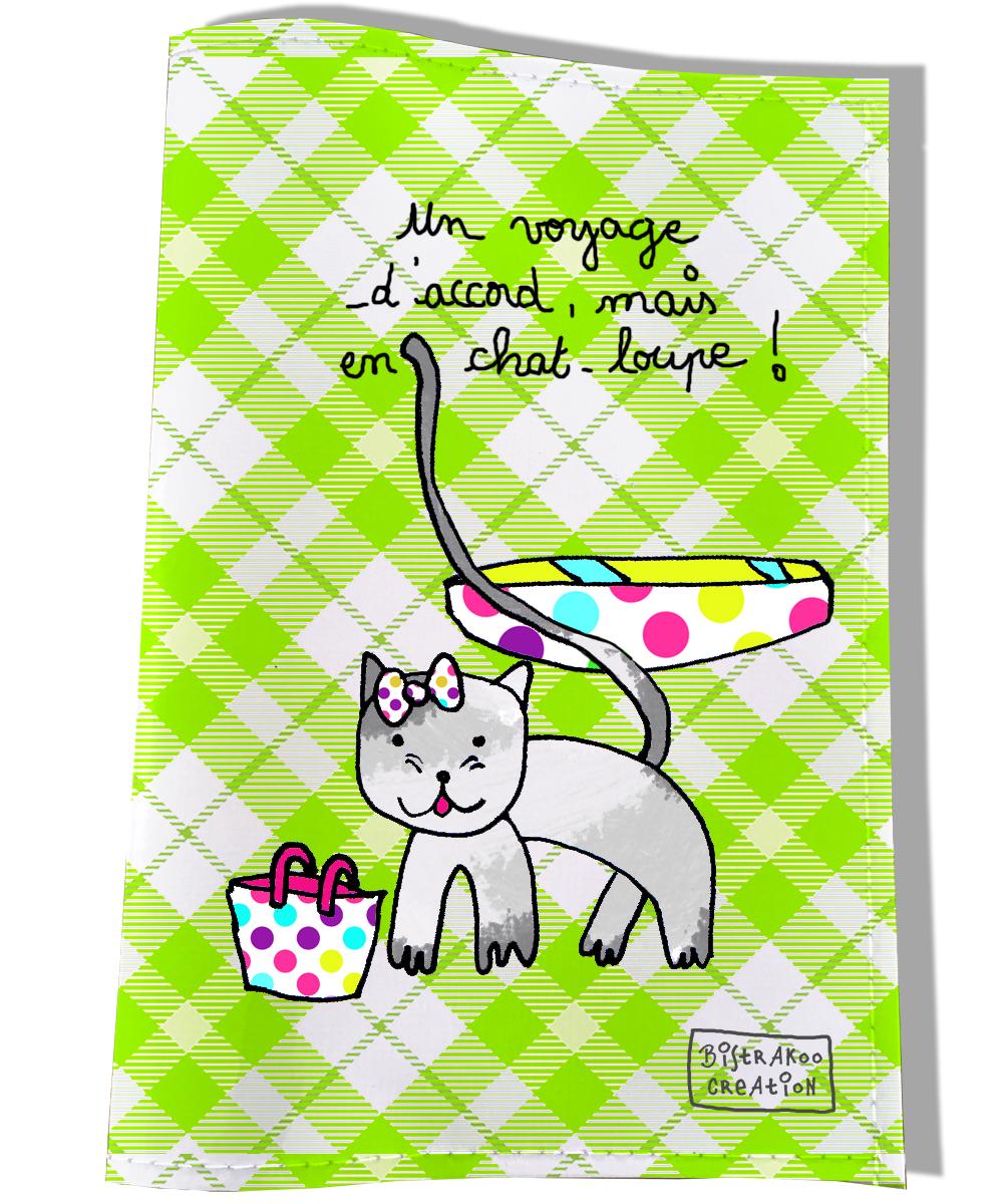 Protège passeport pour chat motif En chat motif-loupe !