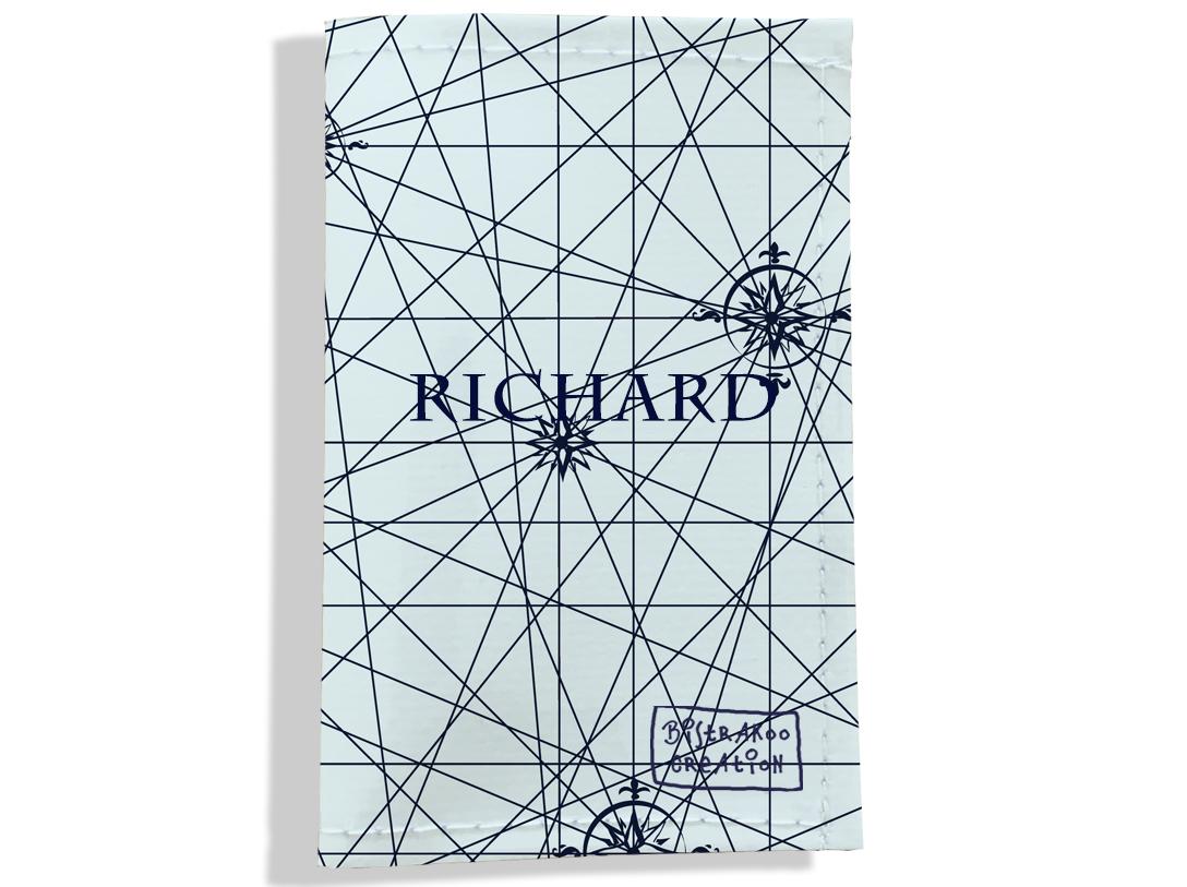 Porte carte grise personnalisable pour homme motif Carte