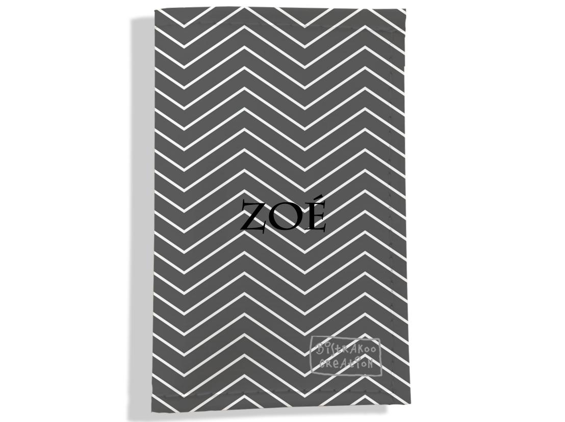 Porte carte grise personnalisable pour femme motif Chevrons