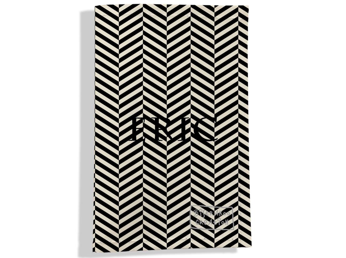 Porte carte grise personnalisable pour homme motif Chevrons