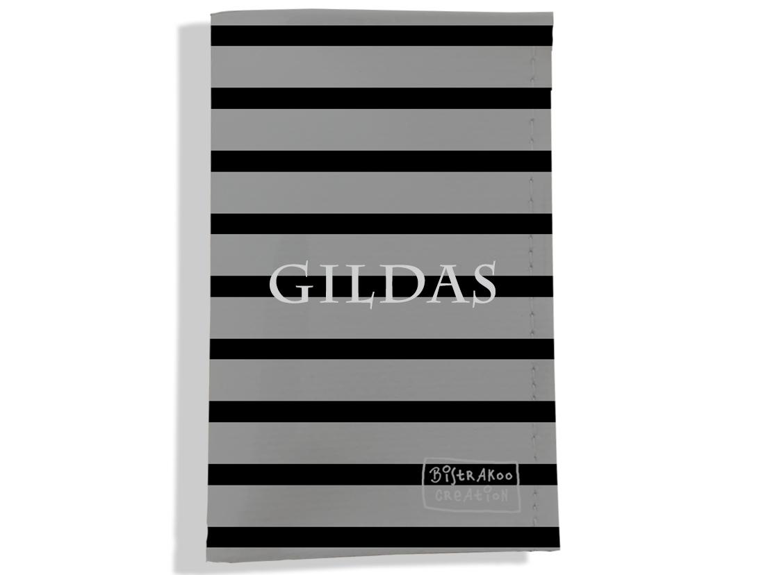 Porte carte grise personnalisable pour homme motif Marinière