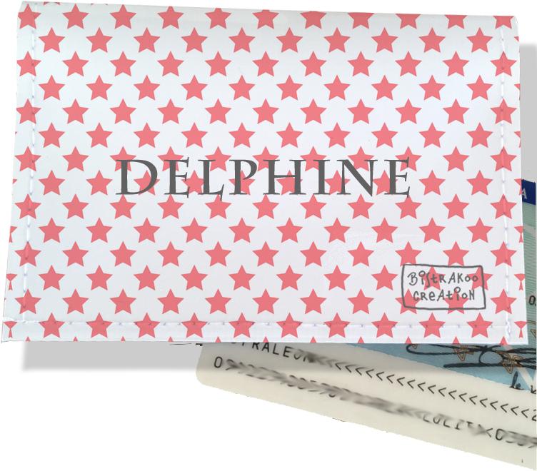 Porte-carte d\'identité personnalisable pour femme motif Etoiles