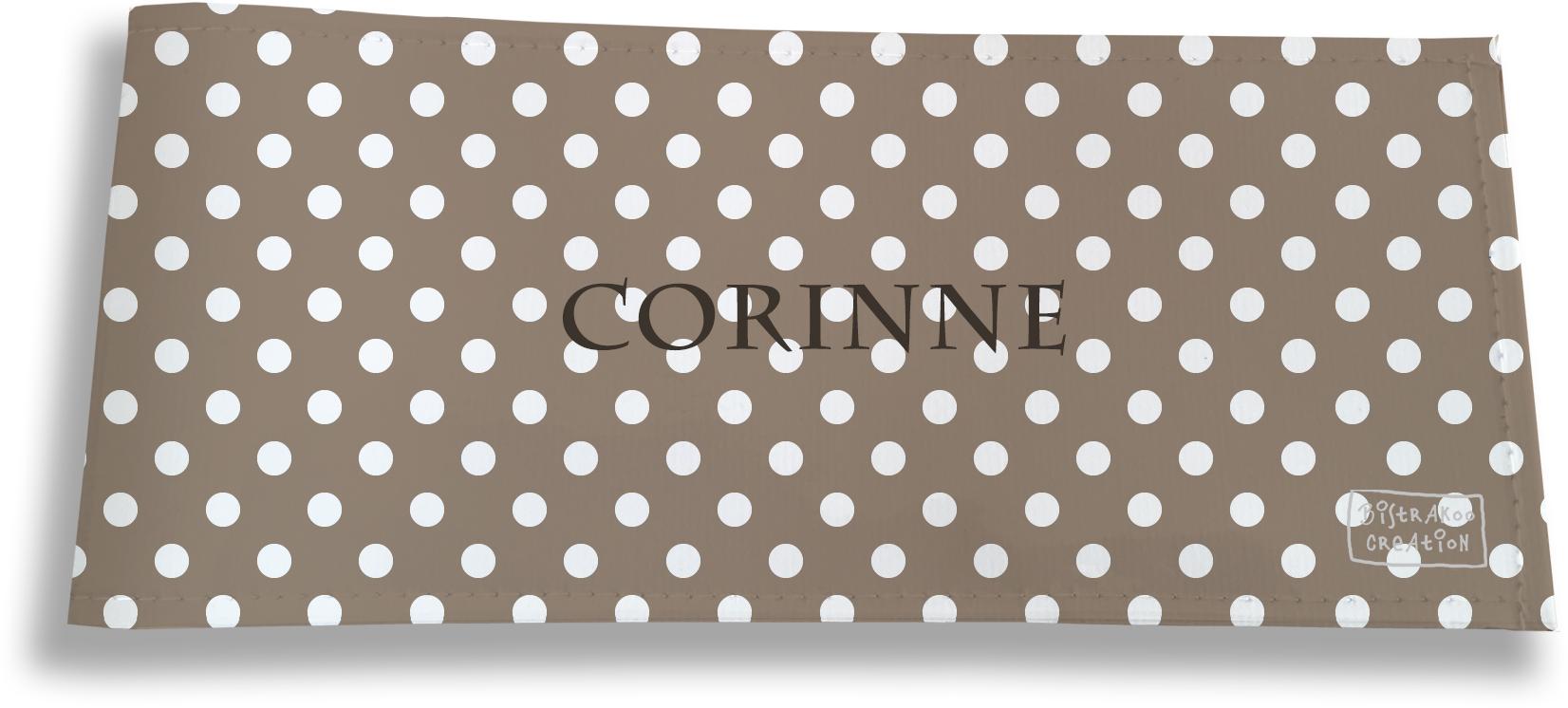 Porte-chéquier long horizontal personnalisable à rabats pour femme motif Pois