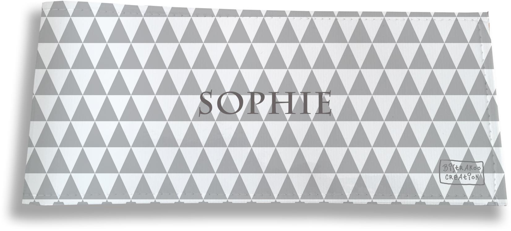 Porte-chéquier long horizontal personnalisable à rabats pour femme motif Graphique