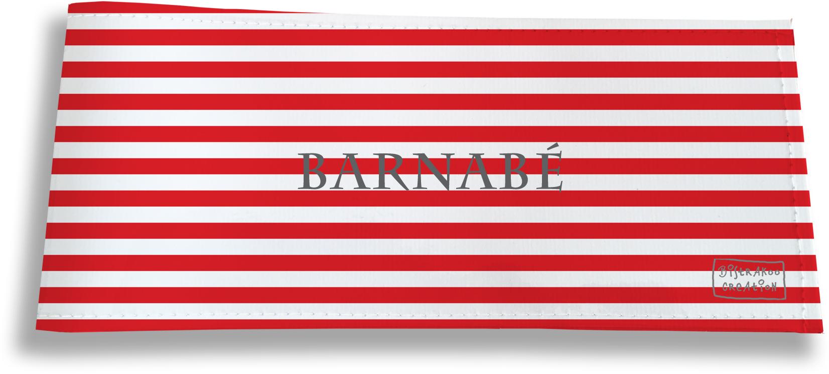 Porte-chéquier long horizontal personnalisable à rabats pour homme motif Marinière
