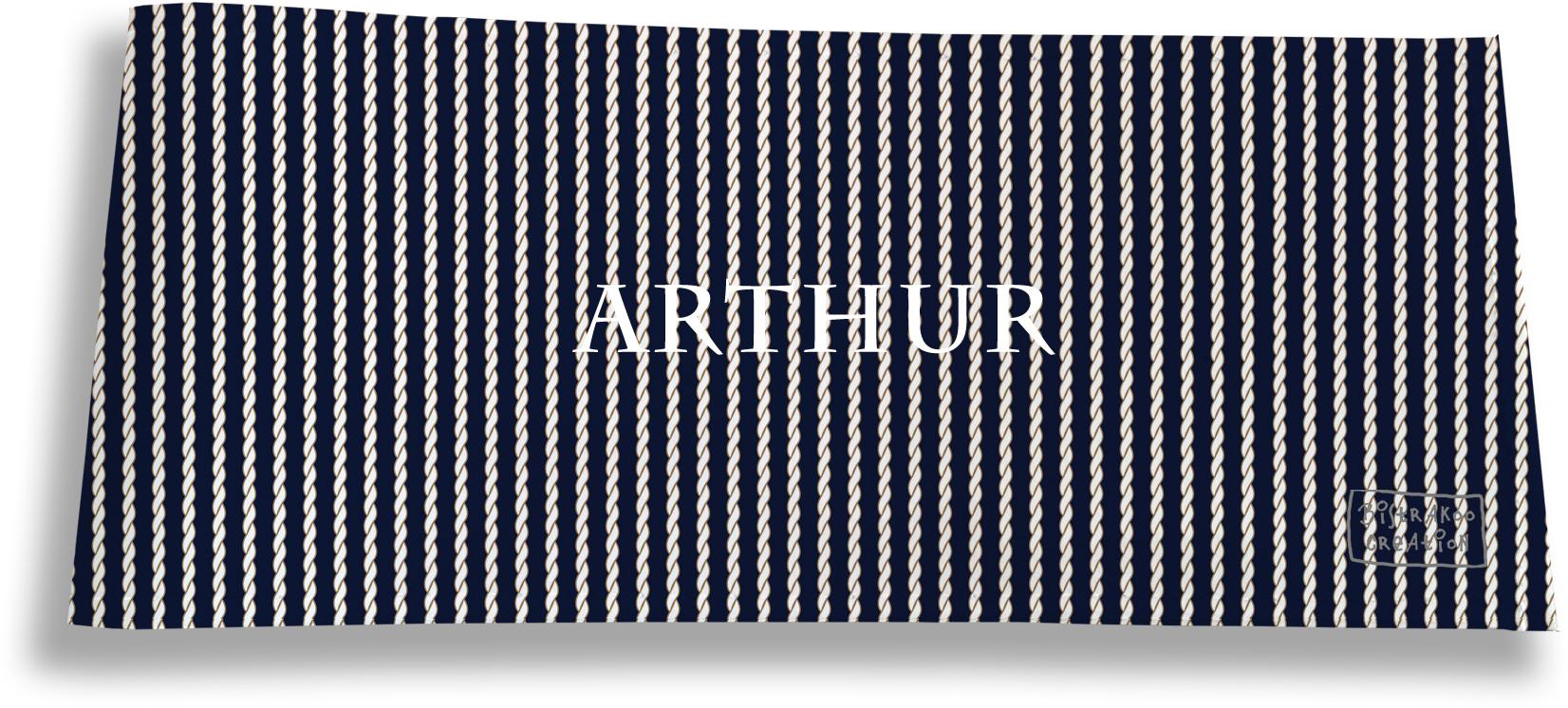 Porte-chéquier long horizontal personnalisable à rabats pour homme motif Cordes