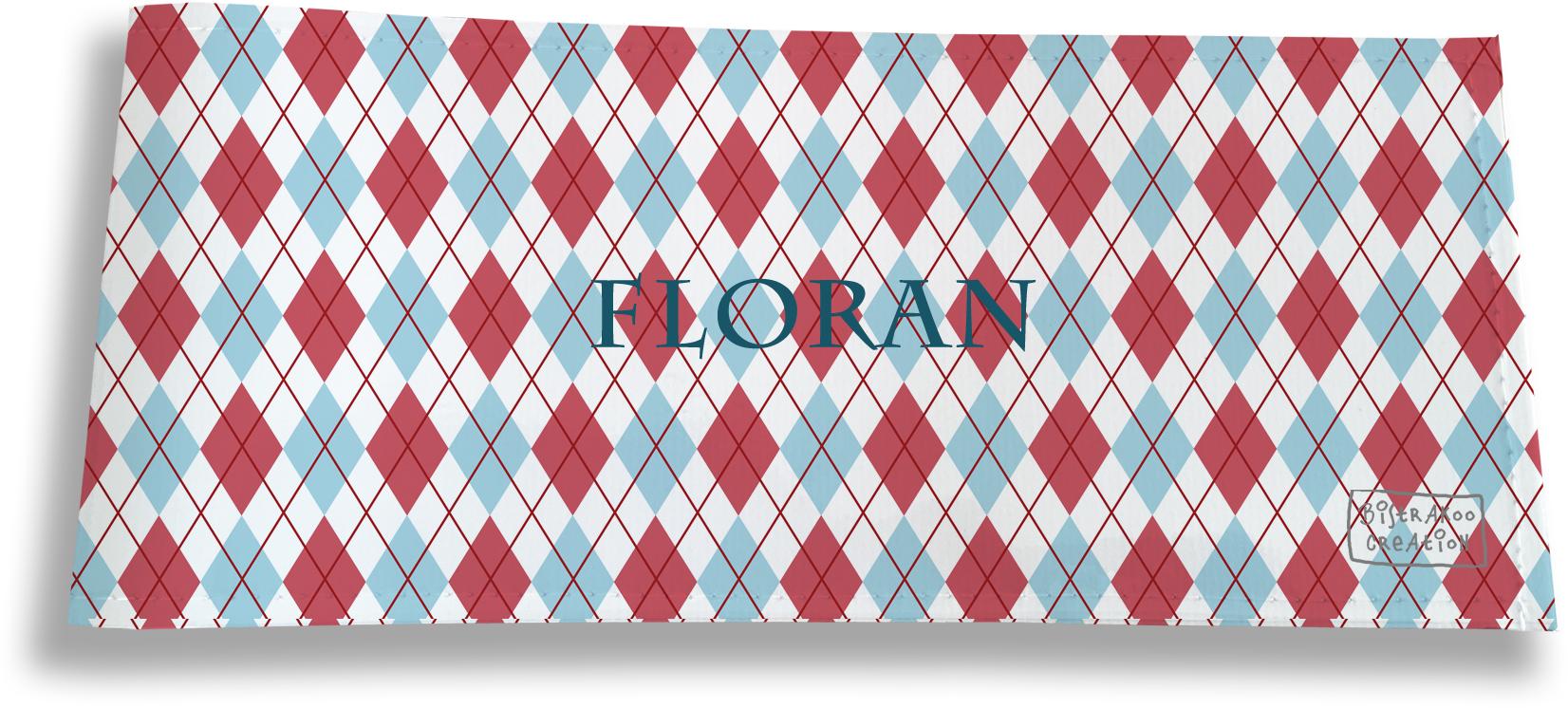 Porte-chéquier long horizontal personnalisable à rabats pour homme motif Losanges
