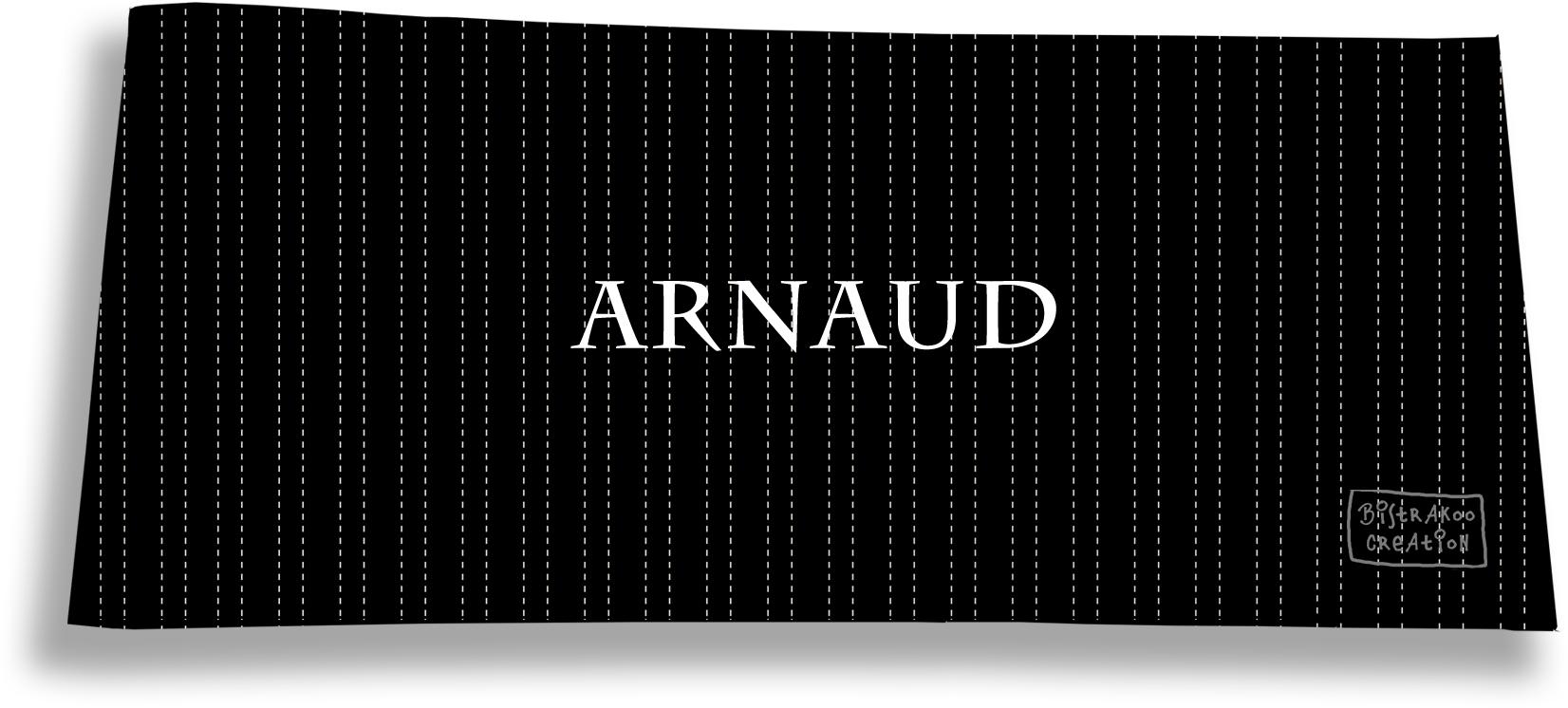 Porte-chéquier long horizontal personnalisable à rabats pour homme motif Pointillés