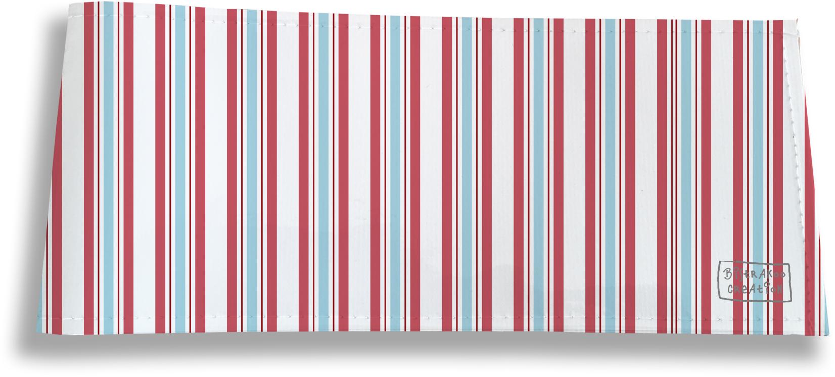 Porte-chéquier long horizontal pour homme motif Bayadère multicolore 2144