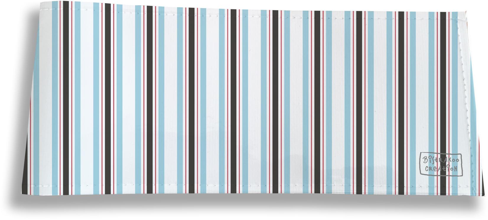Porte-chéquier long horizontal pour homme motif Bayadère multicolore 2145