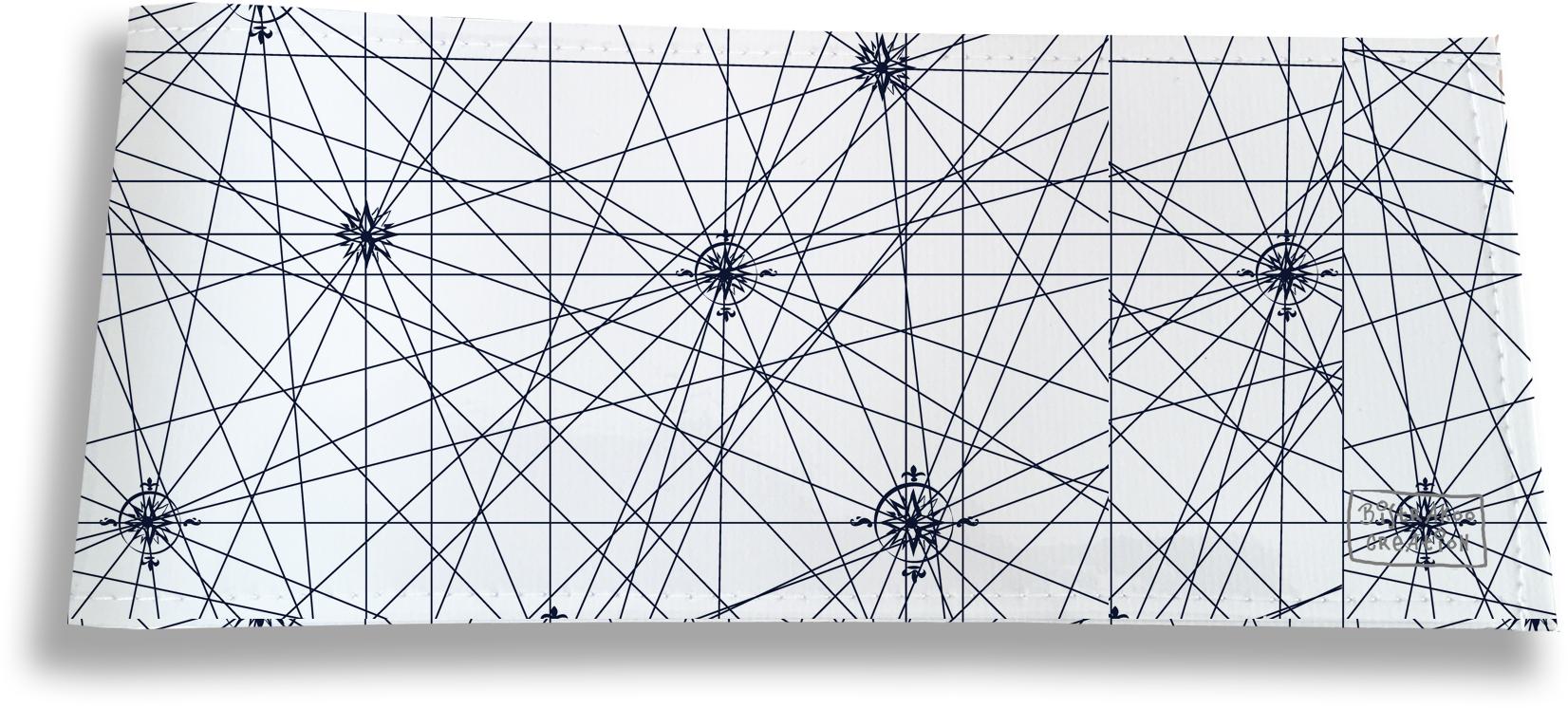Porte-chéquier long horizontal pour homme motif Carte bleue marine 2137