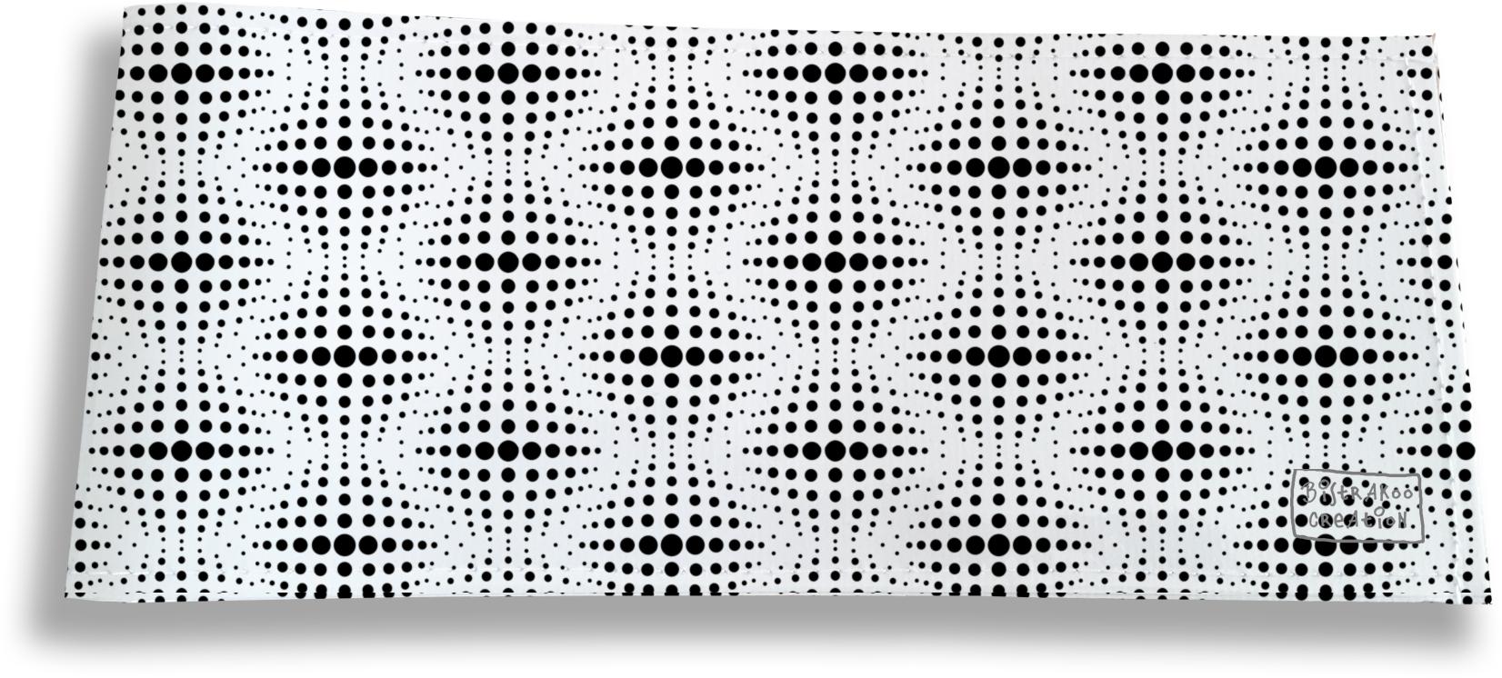 Porte-chéquier long horizontal pour homme motif Cinétique noir et blanc 2506