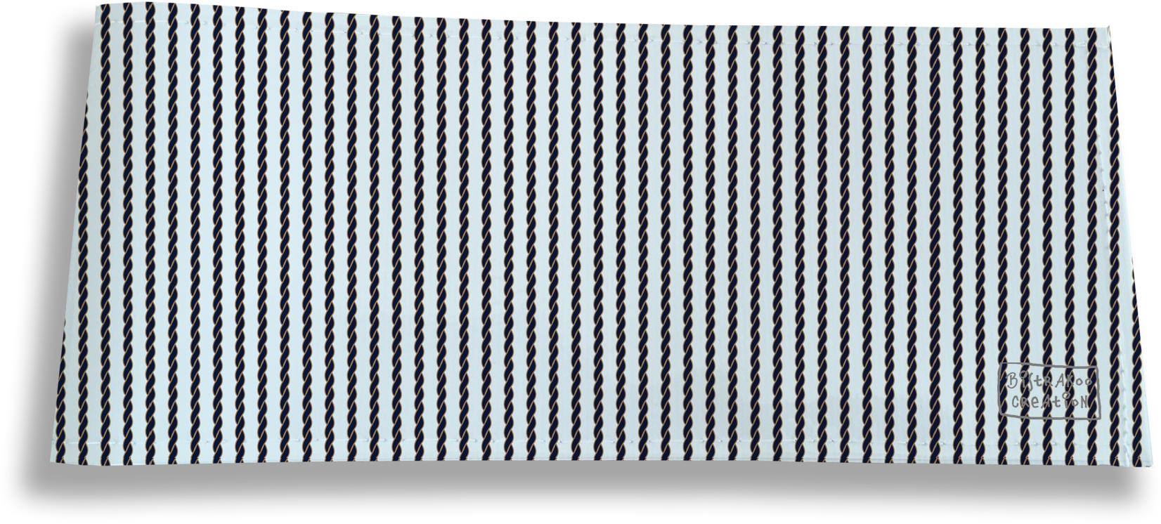 Porte-chéquier long horizontal pour homme motif Cordage bleu marine 2139
